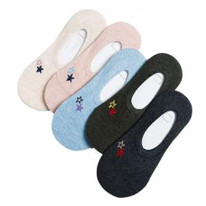 Summer Breathable Female Ship Socks Five Double Color Mix and Match -
