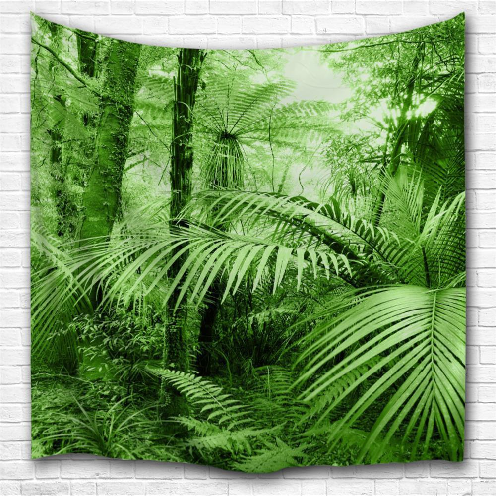 Discount Tropical Forest 3D Printing Home Wall Hanging Tapestry for Decoration