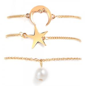 3PCS Fashion Star Pendentif Bracelet -