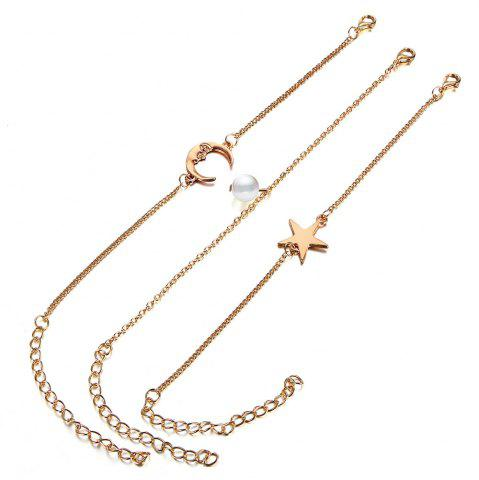 3PCS Fashion Star Pendentif Bracelet