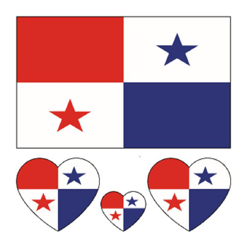 Autocollants de corps de tatouage de drapeau du Panama de football