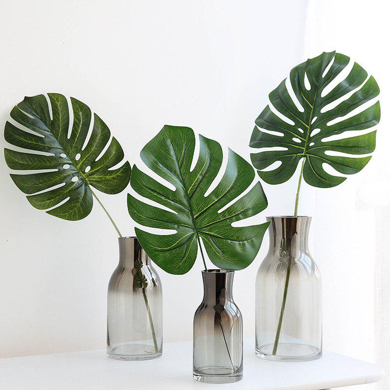 Latest 3PCS Leaf Fresh Style Home Office Artificial Plant Decor
