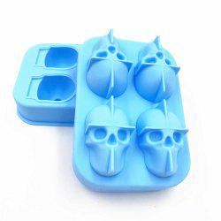 3D Skull Shape Ice Cube Mold Maker Bar Party Trays Food Grade Chocolate Mould -