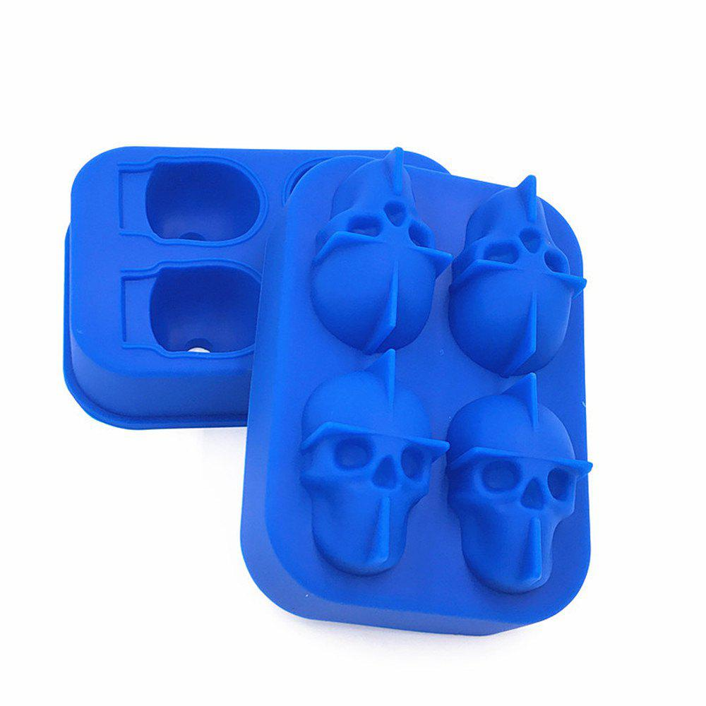 Outfits 3D Skull Shape Ice Cube Mold Maker Bar Party Trays Food Grade Chocolate Mould
