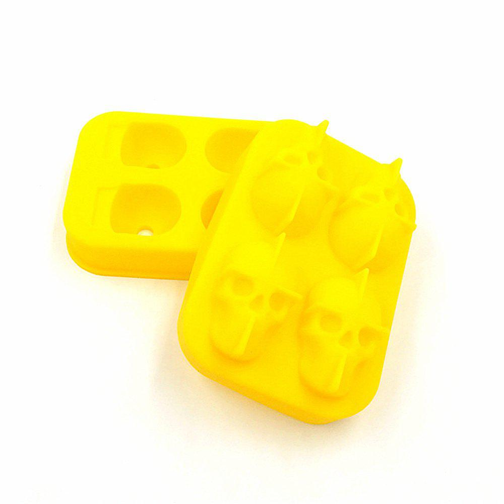 Fancy 3D Skull Shape Ice Cube Mold Maker Bar Party Trays Food Grade Chocolate Mould