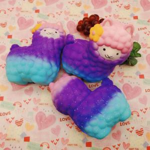 Vlampo Squishy Alpaca 17 x 13 x 8cm Slow Rising Original Packaging Collection Gift Decor Toy -