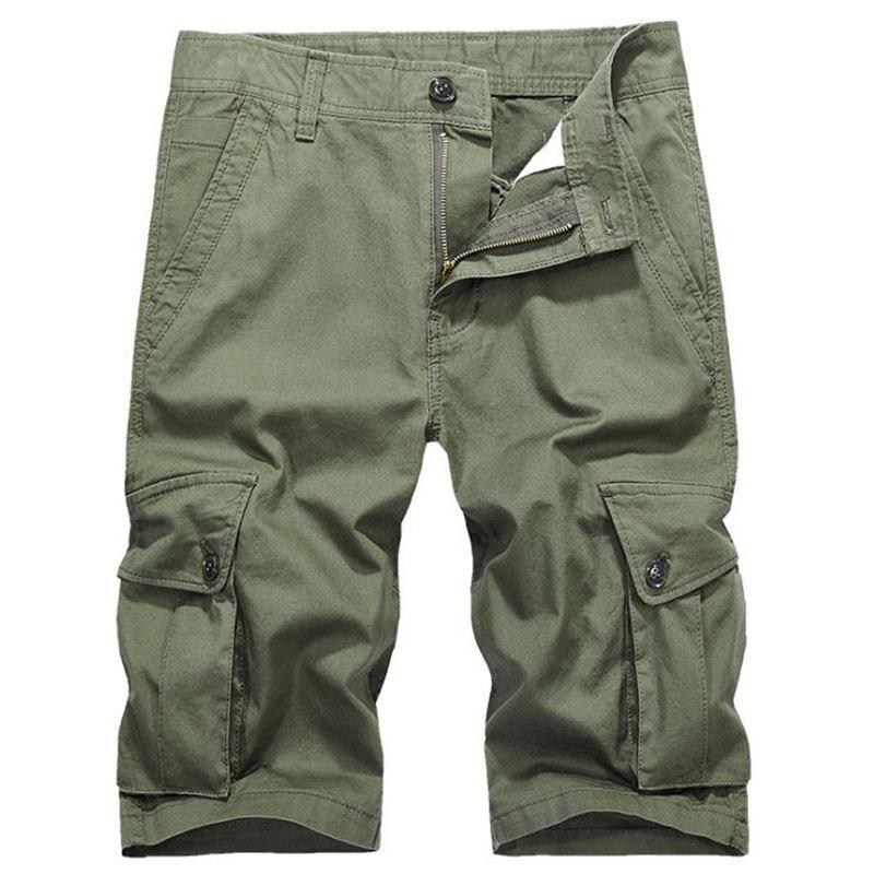 Hot Men Plus Size Summer Pockets Straight Tooling Shorts