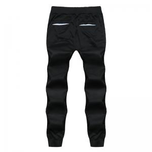 2018 New Men's Fashion Solid Color Rope Elastic Waist Casual Pants -