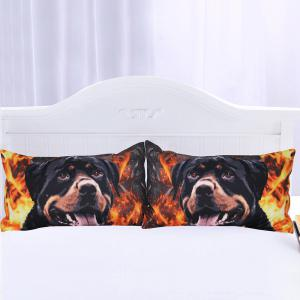 Rottweiler Literie Kids Boys Housse de couette Set Digital Print 3pcs -