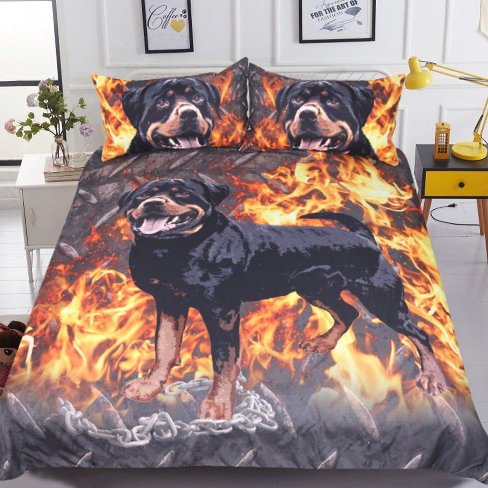 Rottweiler Literie Kids Boys Housse de couette Set Digital Print 3pcs
