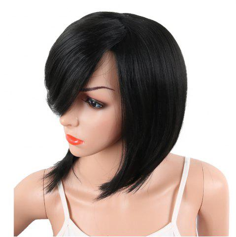 Shops Bob Wine Red Natural Straight Synthetic Wigs for Women Side Bang