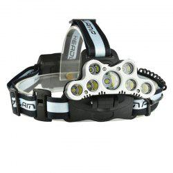 1800LM 7xT6 USB Rechargeable 18650 LED Headlight -