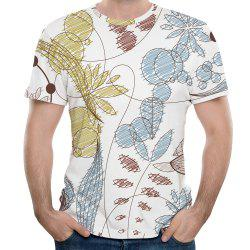 2018 Men's Summer New 3D Graffiti Printed Round Neck Short Sleeve T-shirt -