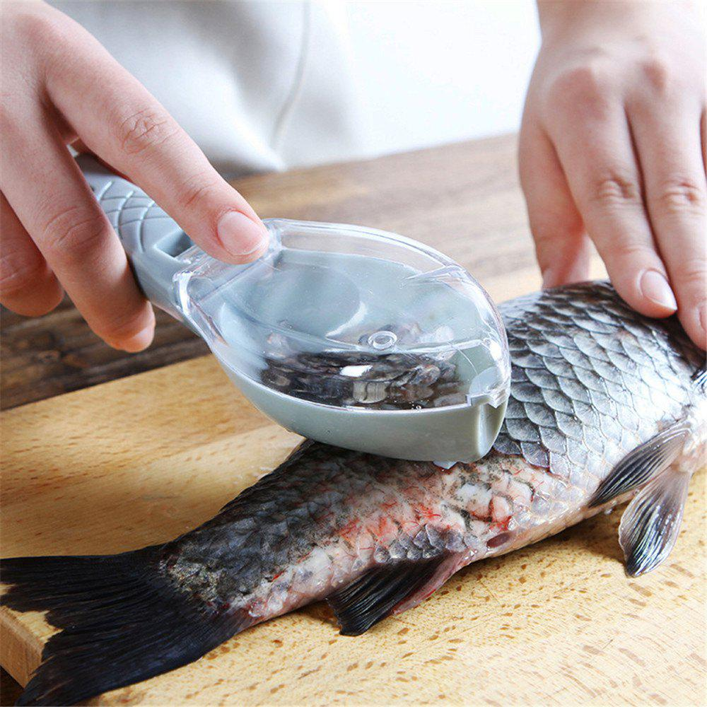 Buy Fish Scale Scraper With Lid Kitchen Gadgets