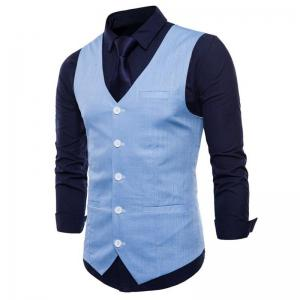 Gilet de costume en coton Slim Fit -