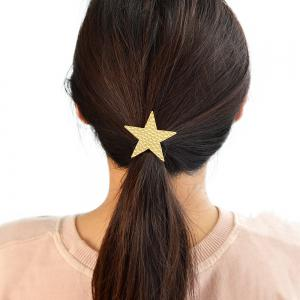 Elastic Rope With Gold-Color Star Shape Hairbands -
