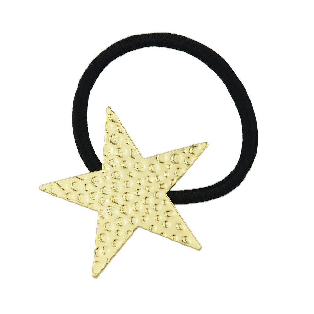 Outfits Elastic Rope With Gold-Color Star Shape Hairbands