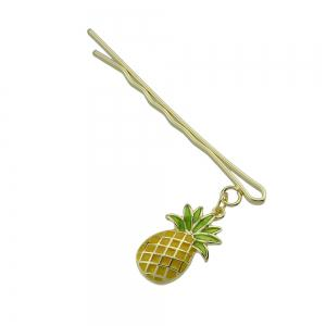 Gold-color with Flower Cat Pineapple Barrettes -