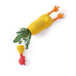 Screaming Chicken Tea Infuser Strainer with Supporting Feet Net -