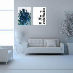 W281 Letters Frameless Wall Canvas Prints for Home Livingroom Decoration 2PCS -