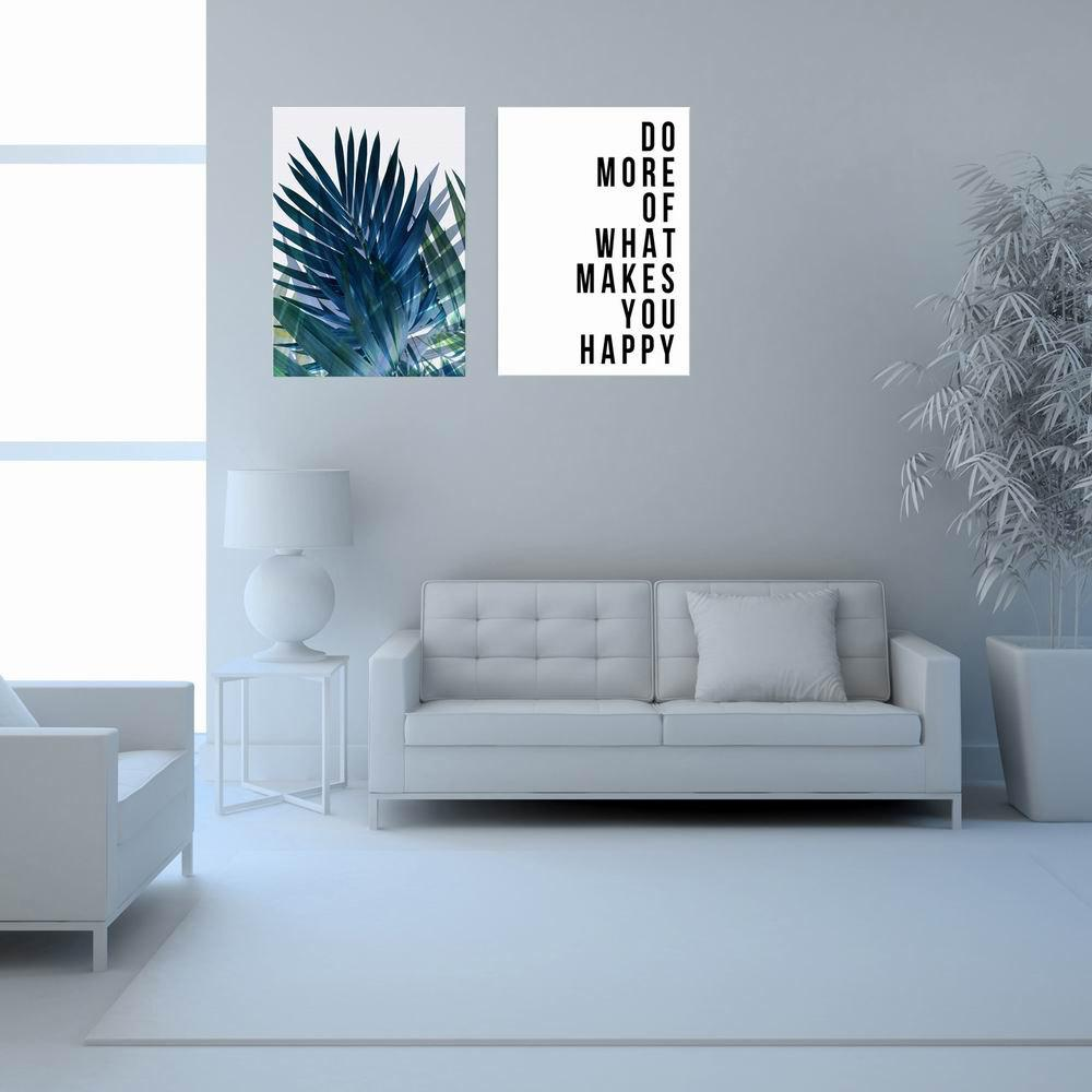 Buy W281 Letters Frameless Wall Canvas Prints for Home Livingroom Decoration 2PCS