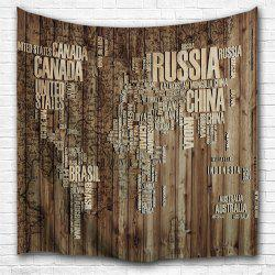 Wooden Board Alphabet 3D Printing Home Wall Hanging Tapestry for Decoration -