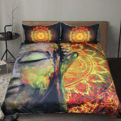 Lotus Flower  Bedding Duvet Cover Set Digital Print 3pcs -