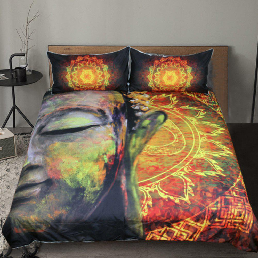 Outfit Lotus Flower  Bedding Duvet Cover Set Digital Print 3pcs