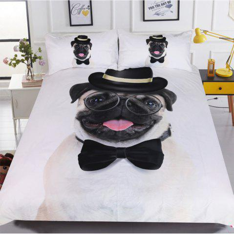 Gentleman Pug Bedding Housse de couette Set Digital Print 3pcs
