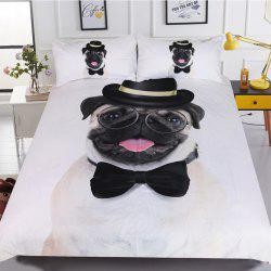 Gentleman Pug Bedding Housse de couette Set Digital Print 3pcs -