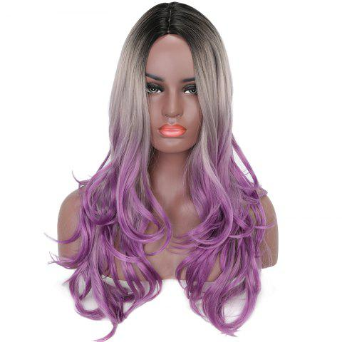 Shops Women Long Wavy Black Gray Purple Ombre High Tempreture Synthetic Hair Wigs