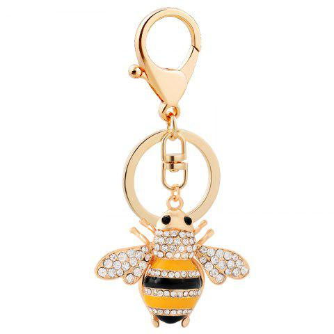 Best Creative Bee Car Key Chain Ladies Bag Ornaments Small Gift Pendant