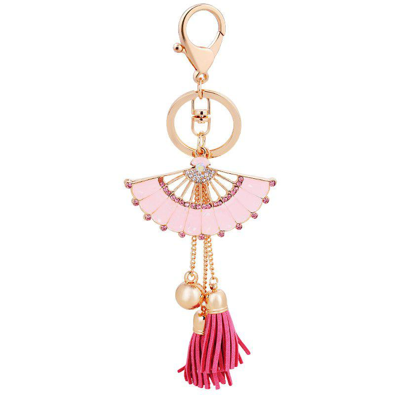 Fashion Girl Bag Pendentif Fan Forme Glands Porte-clés Ornements De Voiture