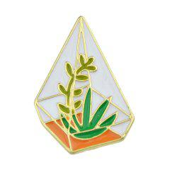 Green Orange White Color Enamel Gross Branches Brooch -