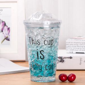 Summer Cola Shake Cup Healthy Seal Letter Plastic Cup -