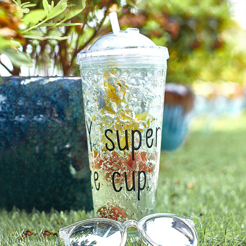 Fashion Summer Cola Shake Cup Healthy Seal Letter Plastic Cup