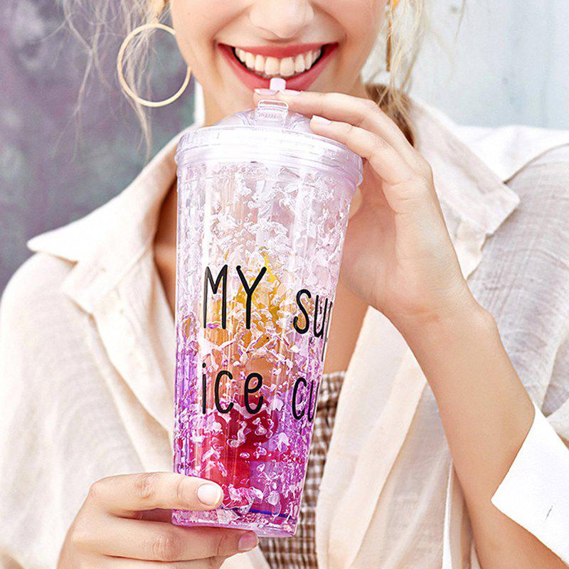 New Summer Cola Shake Cup Healthy Seal Letter Plastic Cup