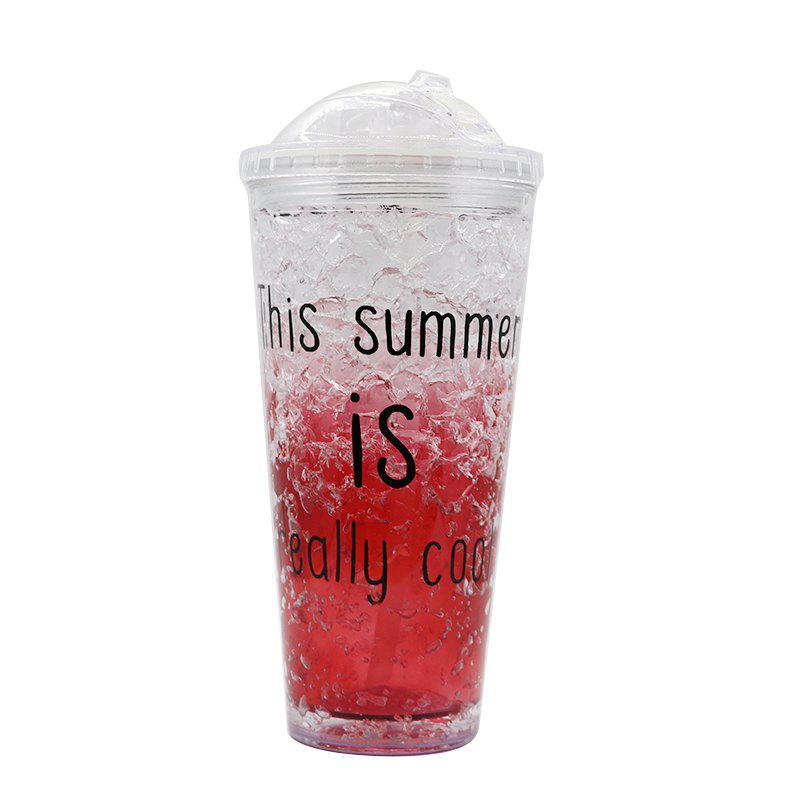 Store Summer Cola Shake Cup Healthy Seal Letter Plastic Cup