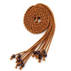 Literary Wax Rope Ethnic Style Tassel Knotted Belt -