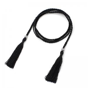 Woven Tassel Cotton Silk Ethnic Wind Female Knotted Belt -