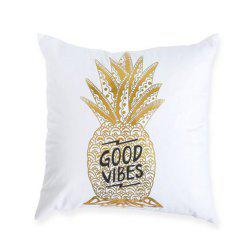 Fashion Gilded Spine Letters Pillowcase -