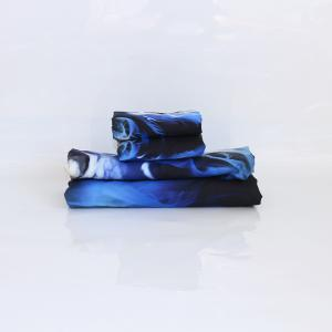 Blue Flame Literie housse de couette Set Digital Print 3pcs -