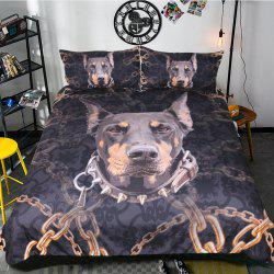 Doberman Literie Housse de couette Set Digital Print 3pcs -