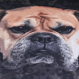 Bulldog Bedding Duvet Cover Set Digital Print 3pcs -