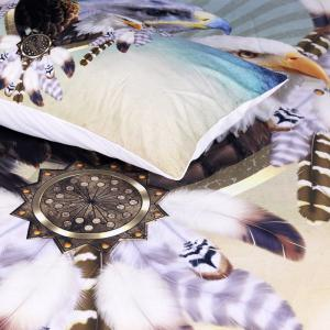 Three Eagles Bedding Duvet Cover Set Digital Print 3pcs -