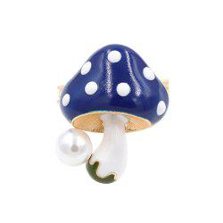 PULATU Enameled Mushroom Brooch for Women -