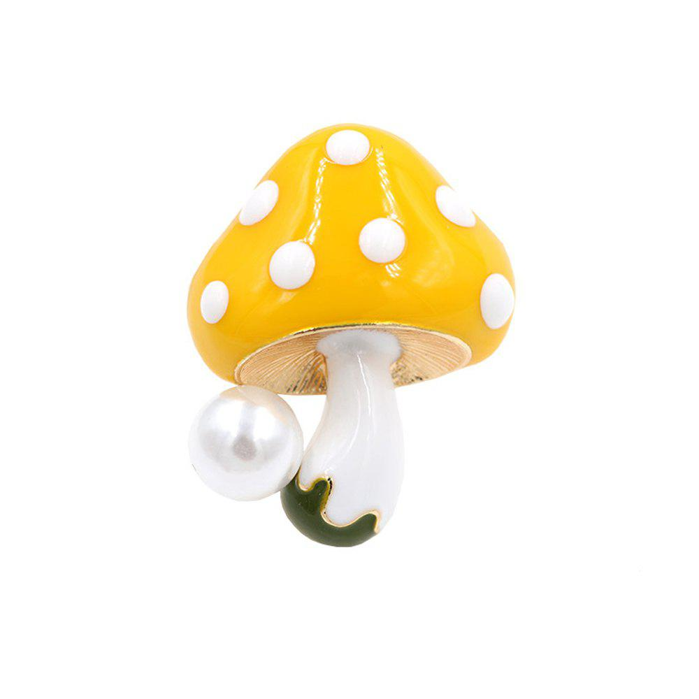 Cheap PULATU Enameled Mushroom Brooch for Women