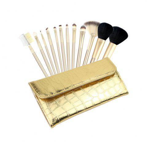 12pcs composent les brosses avec le sac d'or de luxe (collection)