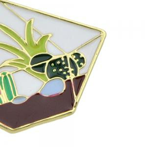 Enamel Gross Cactus Cobblestone Pattern Brooches -