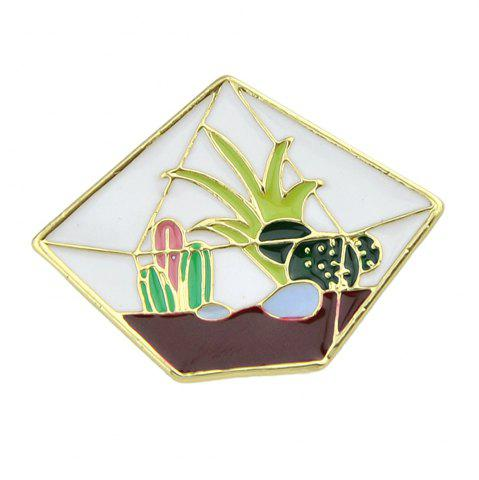 Latest Enamel Gross Cactus Cobblestone Pattern Brooches